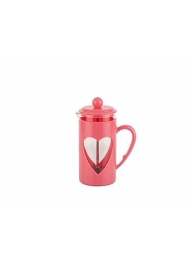 Tantitoni Pembe Kalp Şekilli Bitki Çayı Kahve Presi 350Ml Renkli